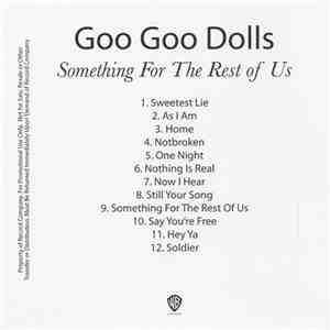 Goo Goo Dolls - Something For The Rest Of Us download free